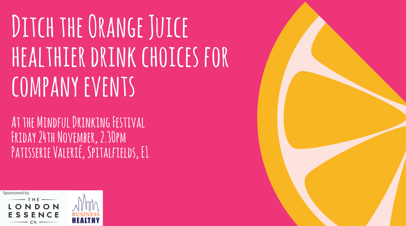 Ditch the Orange Juice - healthier drink choices for your company