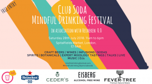 Mindful Drinking Festival 28 July 2018 London