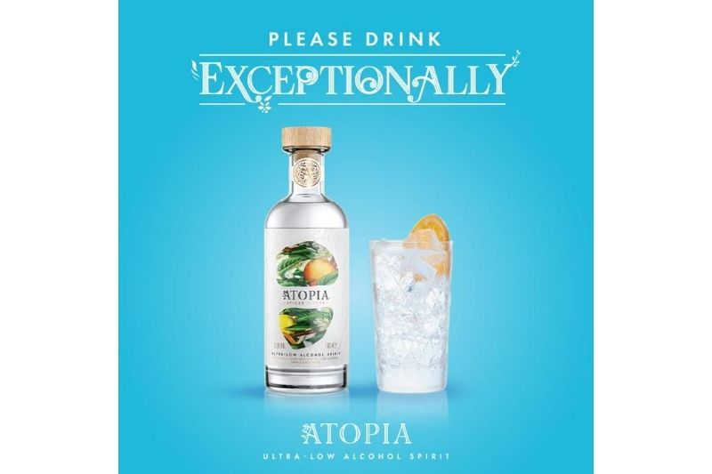 Atopia ultra low alcohol spirit