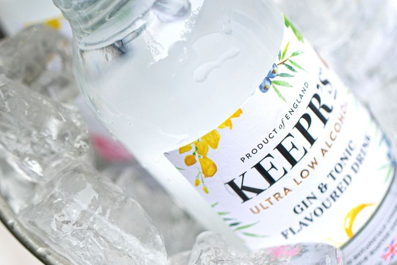 Keeprs ultra low alcohol gin and tonic drink