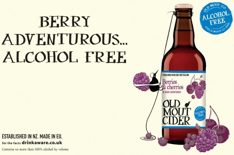 Old Mout Berries & Cherries Alcohol Free Cider